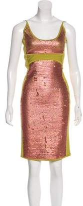 Herve Leger Sequined Bodycon Dress