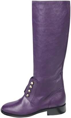 Balenciaga Purple Leather Boots
