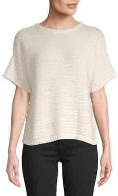 Madewell Medina Lace-Up Back Cotton Sweater
