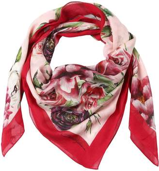 Dolce & Gabbana Floral Printed Square Scarf
