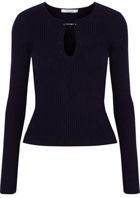 Derek Lam 10 Crosby Ribbed-Knit Wool Sweater