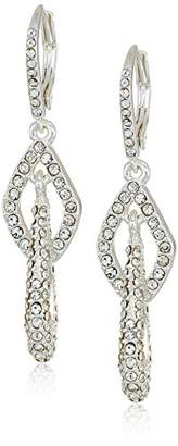 Anne Klein Classics Tone Pave Link Leverback Drop Earring