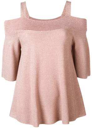 Liu Jo off-shoulder knitted top