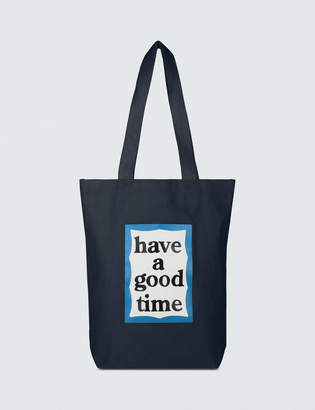 Have A Good Time Blue Frame Tote