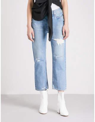 Rag & Bone Boyfriend-fit high-rise jeans