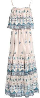 Joie Burnout Printed Silk-Blend Chiffon Maxi Dress