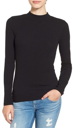 Women's Bp. Rib Knit Mock Neck Tee $25 thestylecure.com