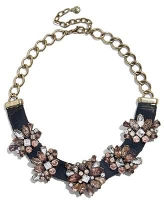 BaubleBar Velvet Gem Frontal Collar Necklace