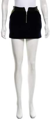 Roseanna Leather-Trimmed Mini Skirt