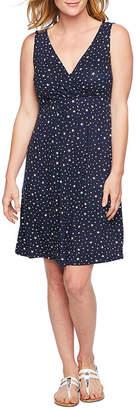 ST. JOHN'S BAY Sleeveless Star A-Line Dress