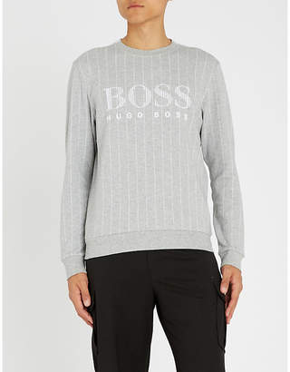 BOSS Logo print cotton sweatshirt