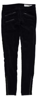 Rag & Bone Low-Rise Velvet Pants Navy Low-Rise Velvet Pants