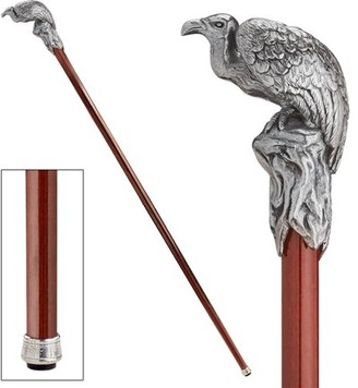 Toscano Design The Padrone Collection: Vulture, Master Navigator of the Spiritual World Pewter Walking Stick