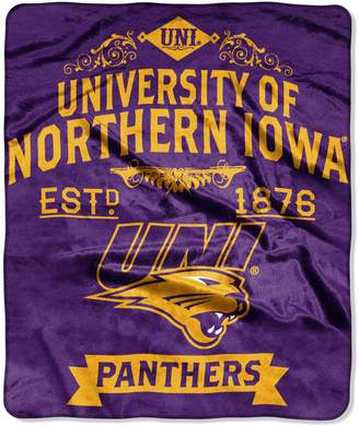 Northern Iowa Panthers Label Raschel Throw by Northwest