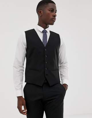 Selected suit vest with stretch in slim fit