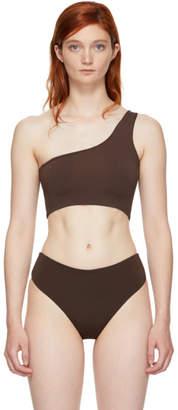 Myraswim Brown Ford Single-Shoulder Bikini Top