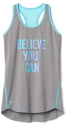 Athleta Girl Graphic Mesh Chi Rules Tank