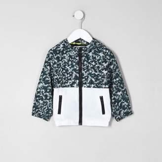 River Island Mini boys khaki camo lightweight jacket