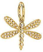 Temple St. Clair Women's Tree of Life Diamond & 18K Yellow Gold Dragonfly Enhancer