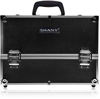 SHANY Essential Pro Makeup Train Case with Shoulder Strap and Locks - Jet