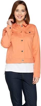 C. Wonder Denim Button Front Jacket