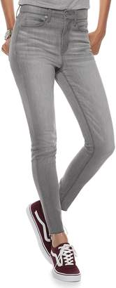 Mudd Juniors' High-Waisted Frayed Ankle Jeggings