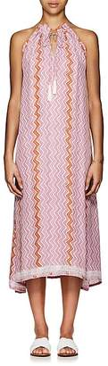 Natalie Martin Women's Marlien Zigzag-Print Silk Maxi Dress