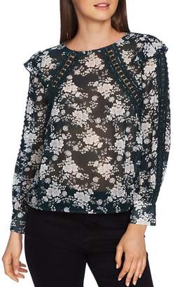 1 STATE 1.STATE Lace-Inset Floral Blouse