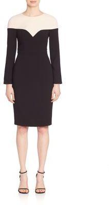Black Halo Marla Colorblock Sheath Dress $375 thestylecure.com