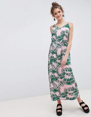 Blend She Adali Palmleaf Print Slip Dress