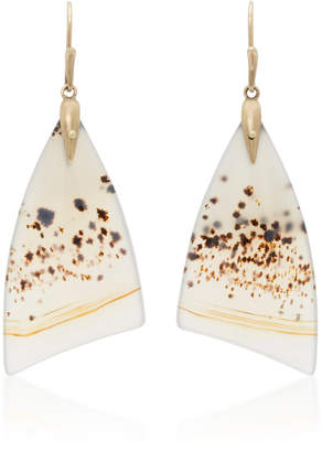 Annette Ferdinandsen 18K Gold Agate Earrings