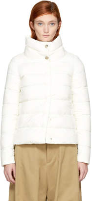 Herno White Down High Collar Puffer Jacket