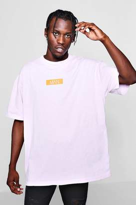 boohoo Oversized MAN Box Logo T-Shirt