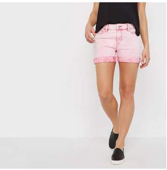Joe Fresh Women's Acid Wash Short, Cherry Blossom Pink (Size 27)