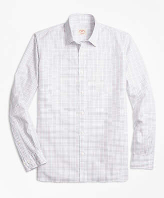 Brooks Brothers Windowpane Cotton Poplin Nine-to-Nine Shirt