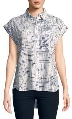 Jones New York Oversized Hi-Lo Button-Down Shirt