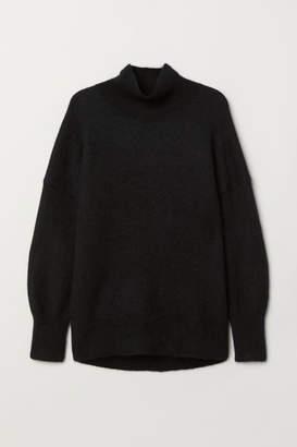 H&M Knit Mock Turtleneck Sweater - Black