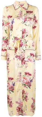 Twin-Set floral shirt maxi dress