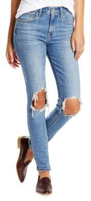 Levi's 721 High Rise Ripped Skinny Jeans $98 thestylecure.com