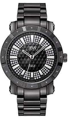 "JBW Men's JB-6225-D 562"" Pave Dial Black Ion-Plated Diamond Watch"