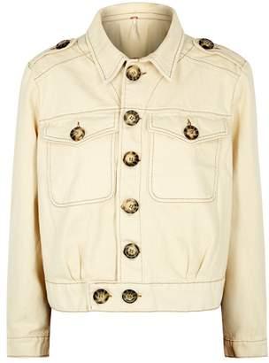 Free People Eisenhower Cropped Denim Jacket