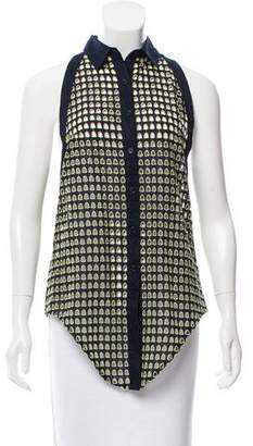 Jonathan Simkhai Sleeveless Eyelet Top