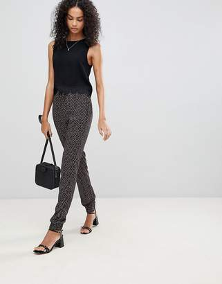 Brave Soul Trixie Geo Print Trousers