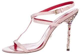Cesare Paciotti Leather High Heel Sandals
