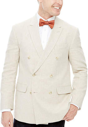 STAFFORD Stafford Linen-Cotton Double-Breasted Sport Coat - Classic Fit