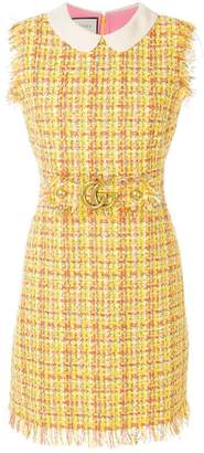 Gucci sleeveless tweed dress