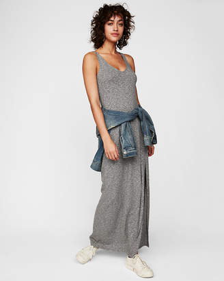 Express Petite Marled Strappy Back Maxi Dress