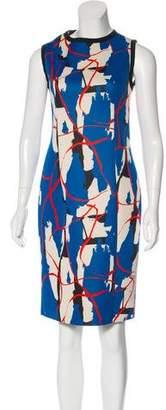 Cédric Charlier Neoprene Printed Dress
