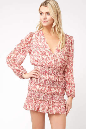 Olivaceous Printed Mini Dress