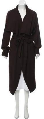 Lanvin Wool Belted Long Cardigan